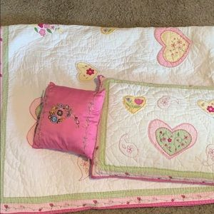Matching quilt and pillow from Pottery Barn